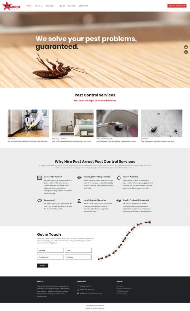 Pest Control Company Website Design