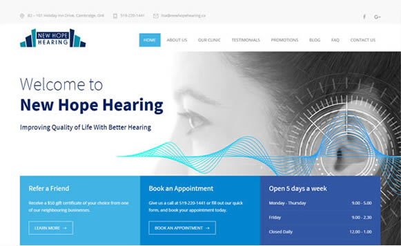 Hearing Clinic website design