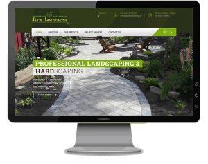 Website Design for landscapers, Kingston Ontario